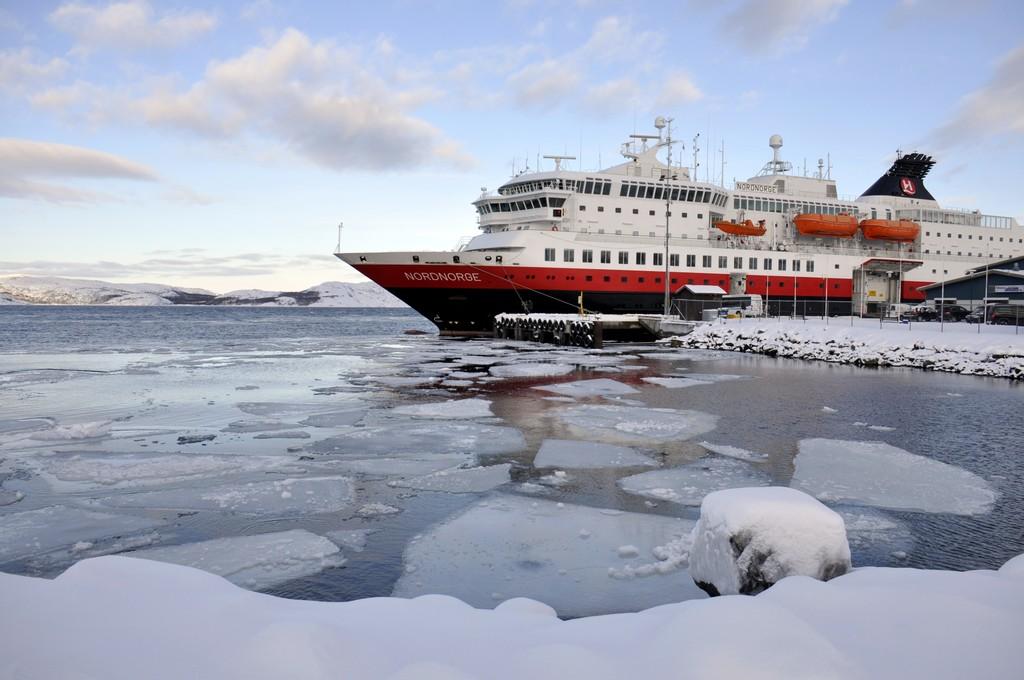 Ein kalter Wintertag in Kirkenes