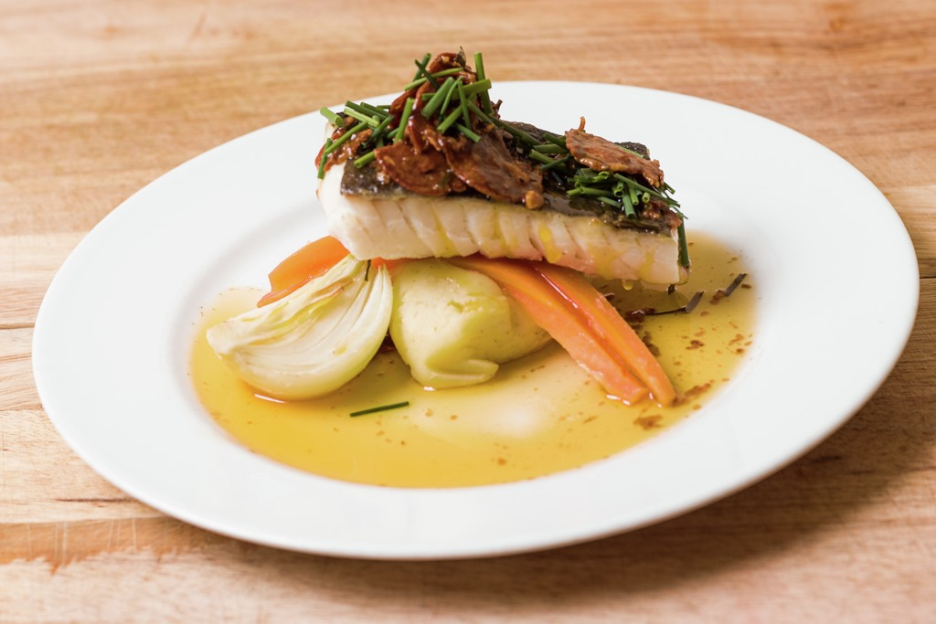 Cod with herbs