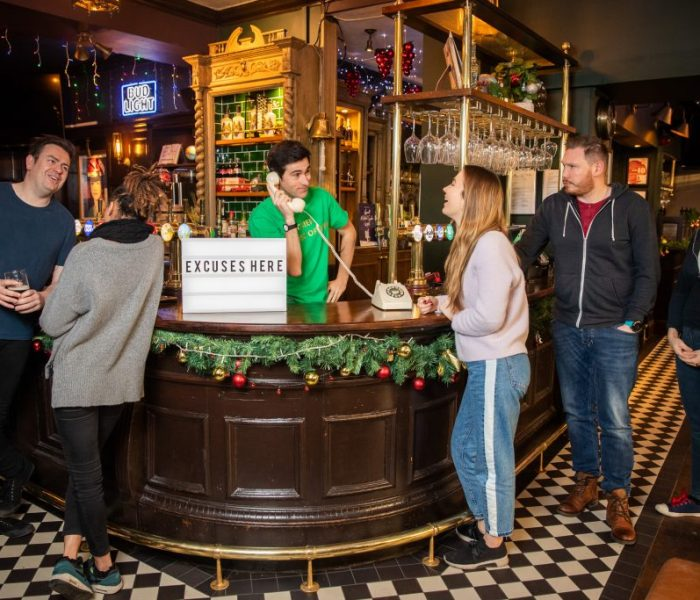A London pub has hired a Chief Excuse Officer – to help customers enjoy the sporting fixtures of Super Saturday uninterrupted