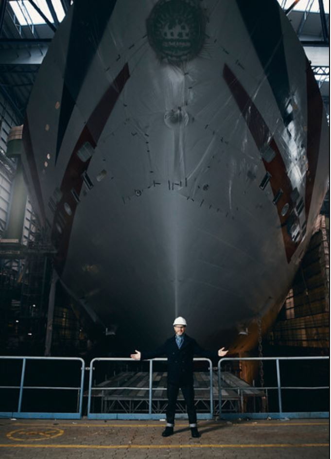 Gary Barlow in Dry Dock - Band Ambassador at P&O Cruises