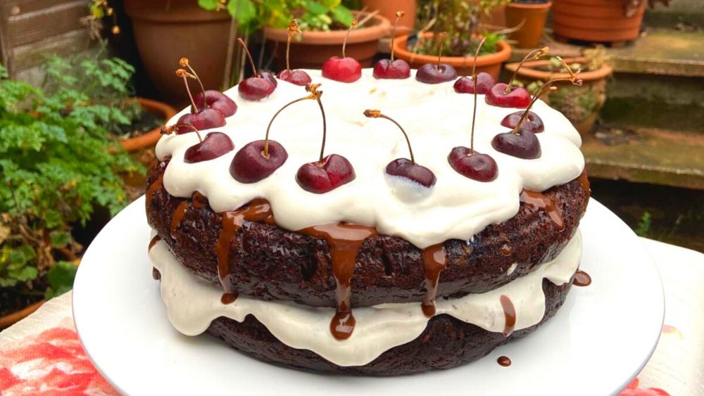 Get into the Christmas spirit with this vegan-friendly Black Forest Gateau recipe